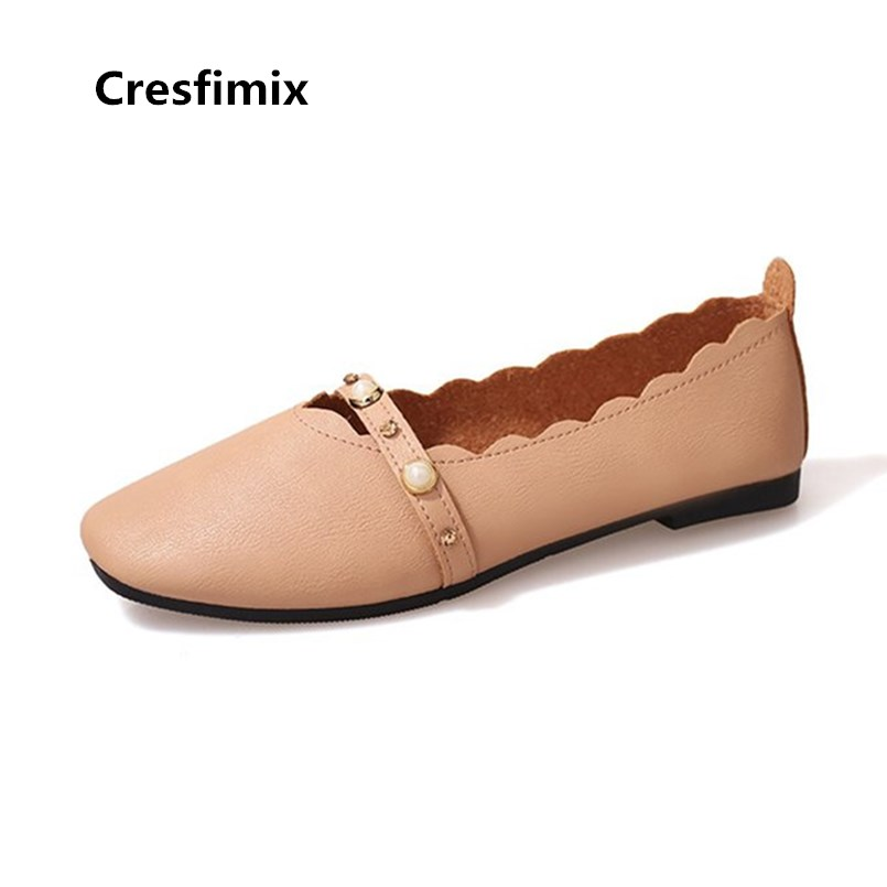 Cresfimix Women Fashion Light Weight Brown Flat Shoes Lady Casual Comfortable Loafers Female Shoes Chaussures Pour Femmes B3416Cresfimix Women Fashion Light Weight Brown Flat Shoes Lady Casual Comfortable Loafers Female Shoes Chaussures Pour Femmes B3416