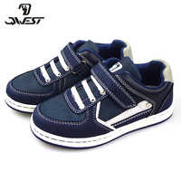 QWEST Patchwork Spring& Summer Breathable Hook& Loop Orthotic Arch Support Outdoor walking shoe for boy Size 29-35 81P-CIC-0581