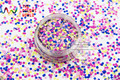 RH2-271 Mix Colors Round Dot shapes solvent resistant Glitter for nail art nail gel nail polish makeup and DIY decoration