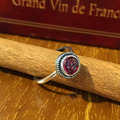 925 Sterling Silver Red Natural Stone Round Open Rings For Women Retro Style Lady Sterling-silver-jewelry Bague Femme