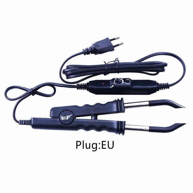 Loof Fusion narzędzia do przedłużania włosów żelazo keratyna narzędzia do klejenia regulacja temperatury złącze ciepła Fusion + wtyczka EU/US/UK/AU