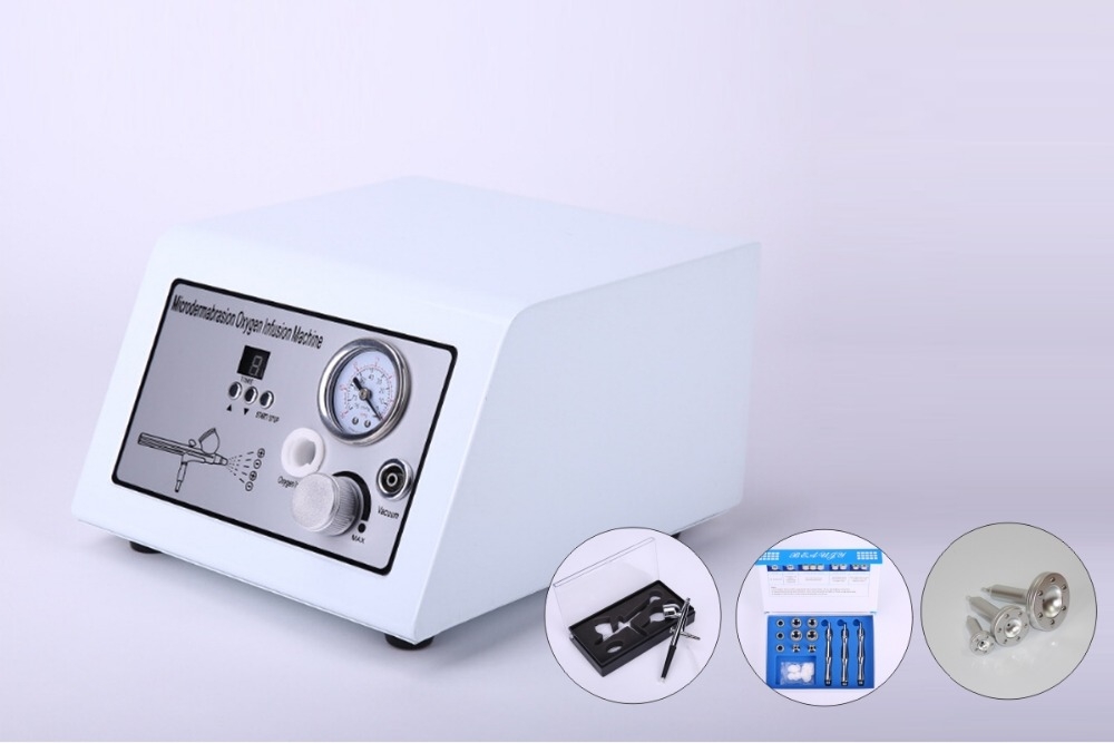 free shipping Portable Oxygen jet peel diamond peeling wrinkle removal skin firming device with vacumm slimming