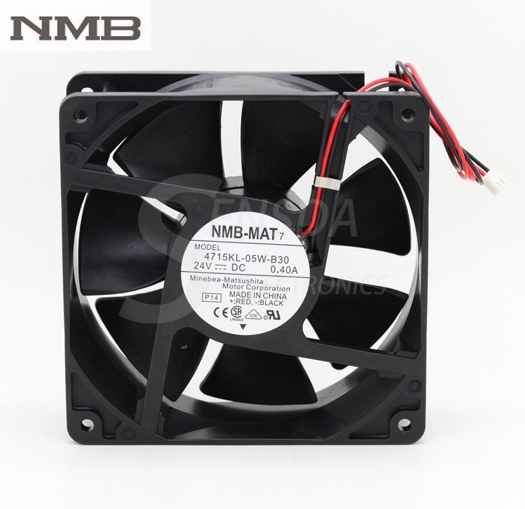 Original NMB 4715KL-05W-B30 120mm 12cm 12038 DC 24V 0.40A 9.6W server inverter computer axial cooling fans free shipping wholesale original nmb 4715kl 04t b30 cooling fan dc 12v 0 72a 12038 120x120x38mm 12cm server inverter fan