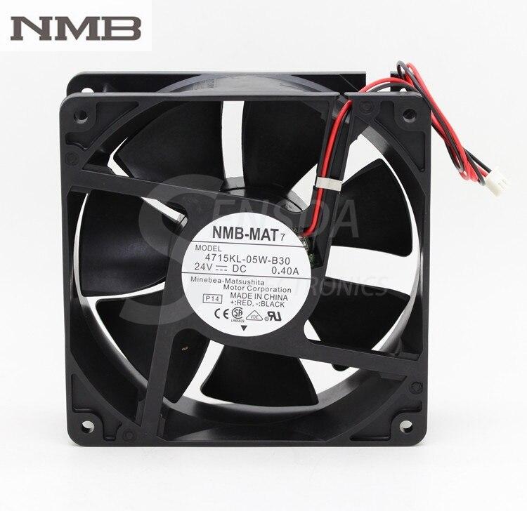 Original NMB 4715KL-05W-B30 120mm 12cm 12038 DC 24V 0.40A 9.6W server inverter computer axial cooling fans delta pfc1212de 120 120 38 mm 12038 1238 12cm dc 12v 4 80a server inverter cooling fan