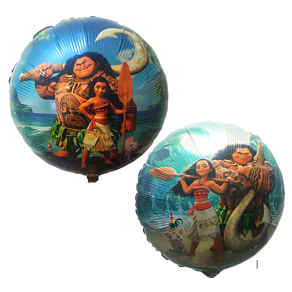 Lucky 5pcs/lot 45*45cm Moana Balloon Cartoon Princess Aluminum Foil Balloons Birthday Gi ...