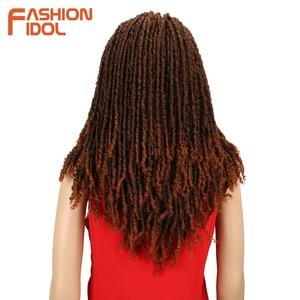 Image 2 - FASHION IDOL 22 Inch Synthetic Wigs For Black Women Crochet Braids Twist Jumbo Dread Faux Locs Hairstyle Long Afro Brown Hair