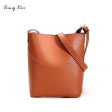 Tonny Kizz crossbody bags for women bucket shoulder PU leather casual ladies hand messenger girls large capacity
