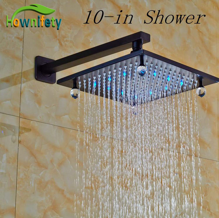 10-in Bathroom Top Shower Sprayer Oil Rubbed Broze Shower Head And Shower Arm oil painting fabric bathroom decor shower curtain