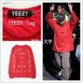3 ª temporada Preto t-shirt Yeezy Homens Hip Hop Longo manga O pescoço camisa KANYE WEST Eu Sinto Como Pablo M-2XL roupas