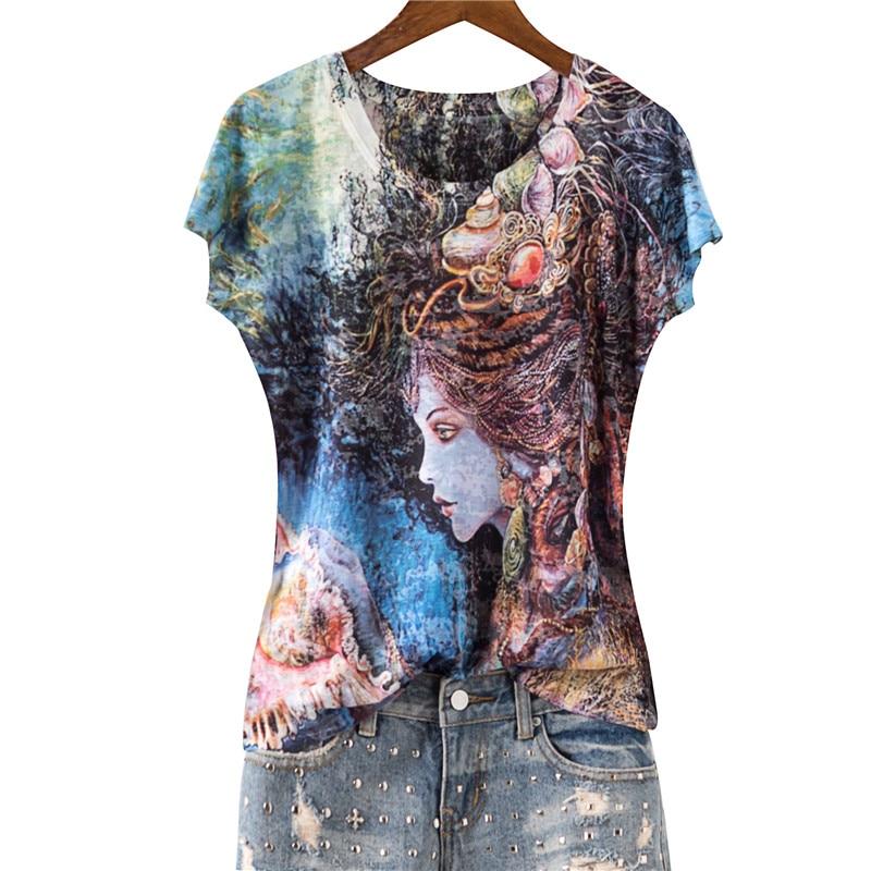 Vintage print slim silk cotton thin t shirt women o neck short sleeve 2020 summer new arrivals M 5XL|T-Shirts|   - AliExpress