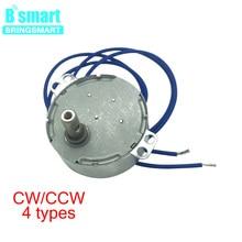 цена на Bringsmart 110V 220V AC Micro Synchronous Geared Motor 50Hz 60Hz Oscillating Fan Motor Microwave Oven Mini AC Motor 0.9~70rpm