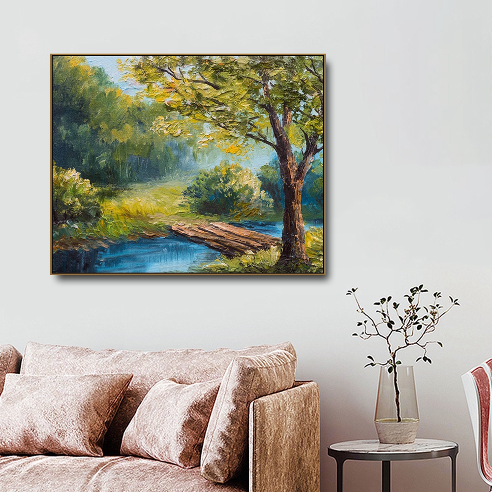 Summer Forest Famous Oil Canvas Painting Calligraphy Posters and Prints For Living Room Bedroom Wall Pictures Home Art Decor in Painting Calligraphy from Home Garden