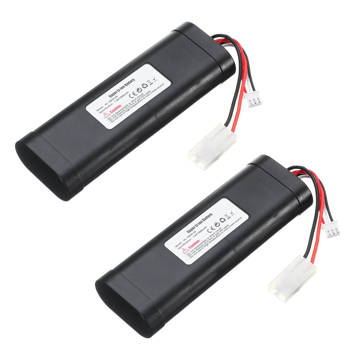 <font><b>7.4V</b></font> 1800mAh HL-18650-2S <font><b>Li</b></font>-<font><b>PO</b></font> Battery for Heng Long RC HL3818-1 3889-1 3809 1:16 tank toy Upgrade large capacity L6.2-2P image