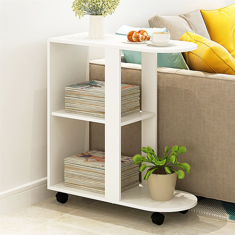 Simple mini Coffee Table Movable Sofa Side Table Creative Nightstand living room Sofa Side Cabinet Tea Table home furniture minimalism iron tea table creative small end table sofa side coffee table living room furniture