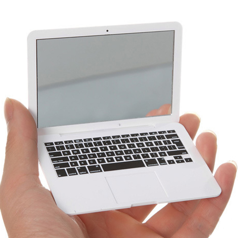 MirrorBook Air Silver Mini Novel Makeup MirrorBook Air Mirror For Apple MacBook Shaped