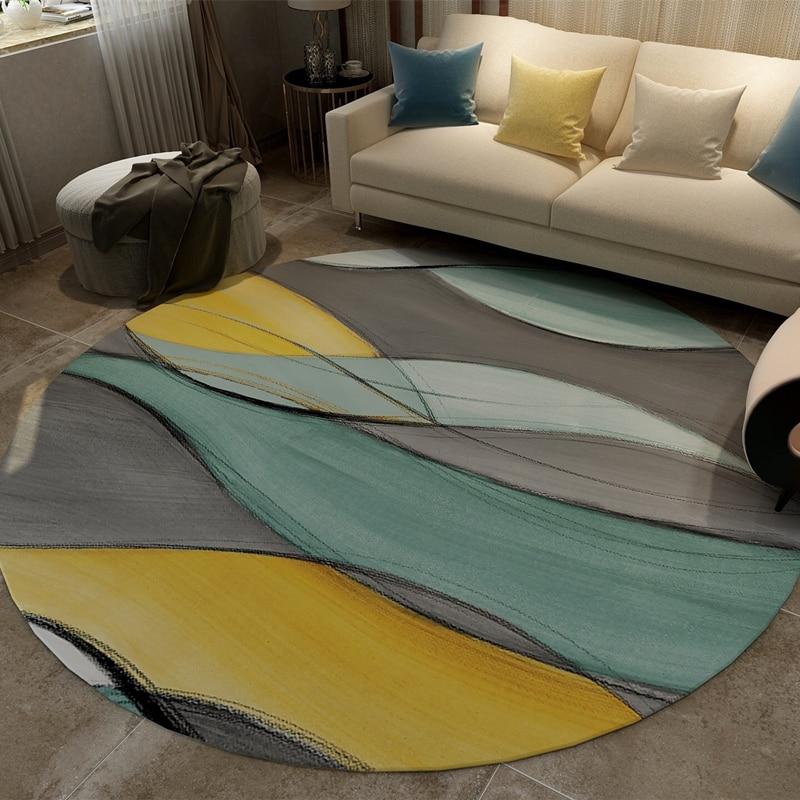 Tapis rond ins nordiques tapis abstrait chambre chevet tapis étude ordinateur bureau coussin pivotant salon table basse tapis