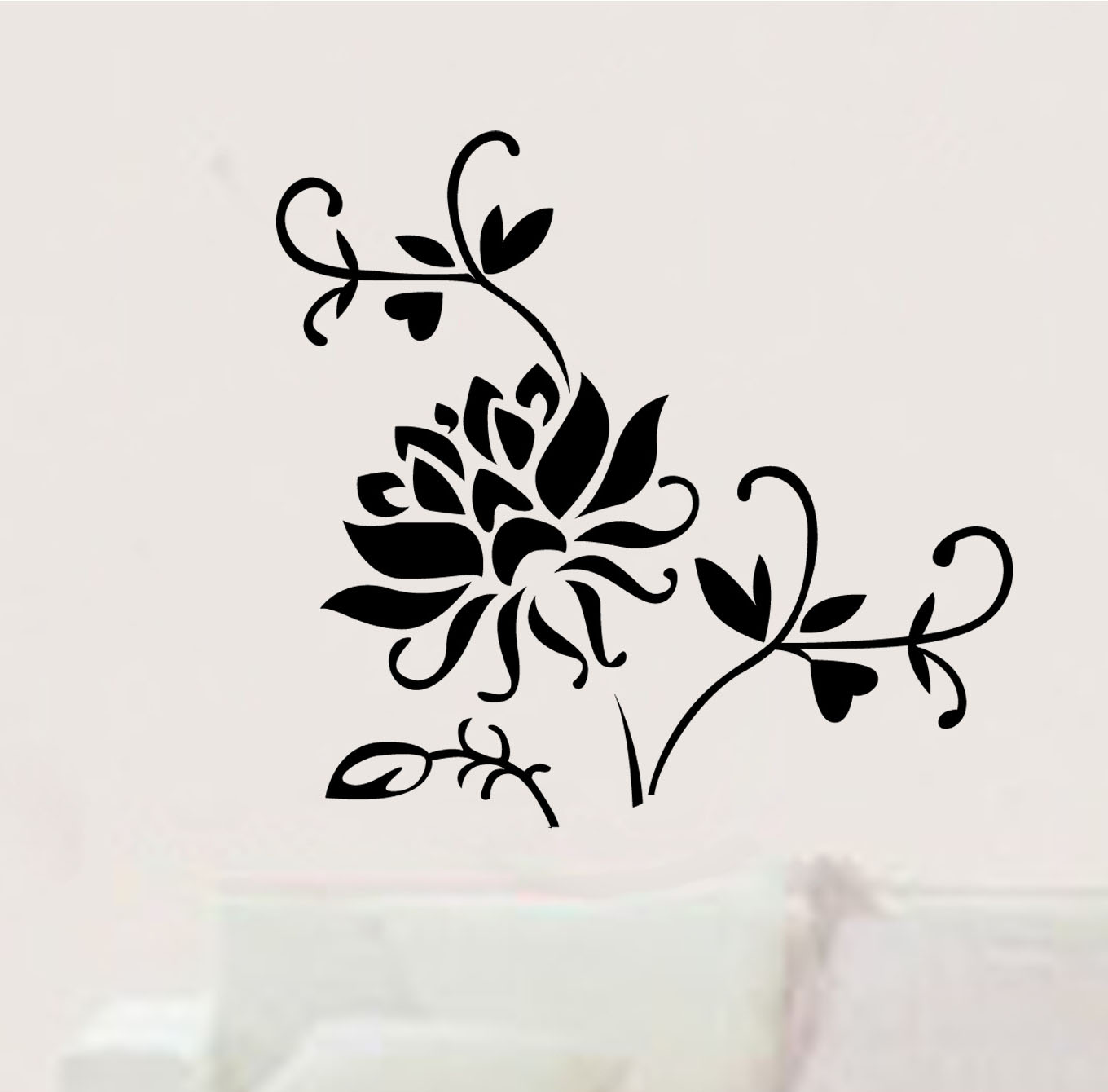 Online get cheap chinese red door aliexpress alibaba group diy lotus flowers diy red flower art wall stickers flowers home decor bedroom bathroom window door dhlflorist Choice Image
