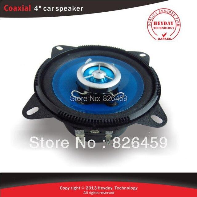 4'' 2-way coaxial car speaker /transparent sky blue drum paper/ABS series plastic frame