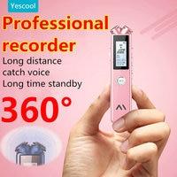 Yescool A20 8 | 16 | 32 gb profissional de mini Gravador de voz Digital ditafone enregistreur MP3 music player Preto Rosa opcional