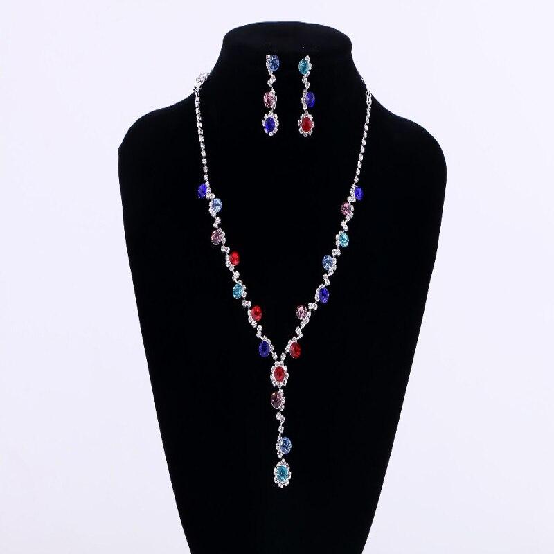 Ellipse Crystal Jewelry Set...
