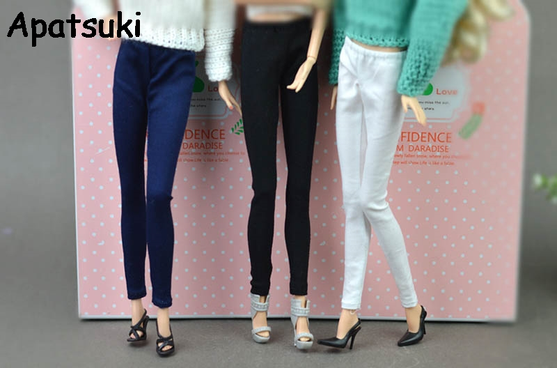 High Quality Jeans Bottoms Trousers Long Pants For Barbie Doll Clothes Fashion Outfit Shorts For 1/6 BJD Dolls Accessories 1 8 bjd sd doll wigs for lati dolls 15cm high temperature wire long curly synthetic hair for dolls accessorries high quality wig