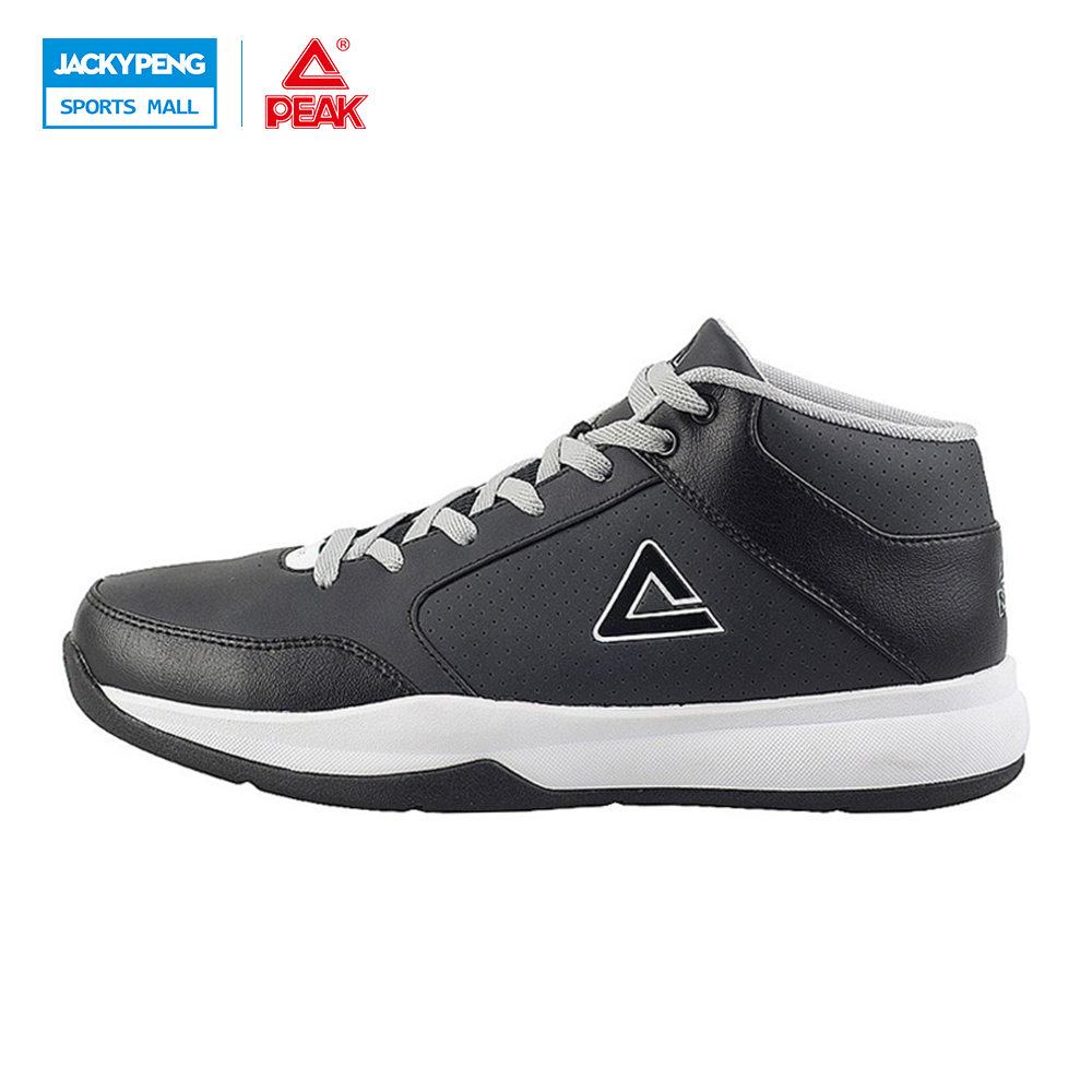 PEAK SPORT Men Basketball Sport Shoes Competitions Durable Rubber Outsole Sneakers Medium Cut Athletic Training Ankle Bas Boots
