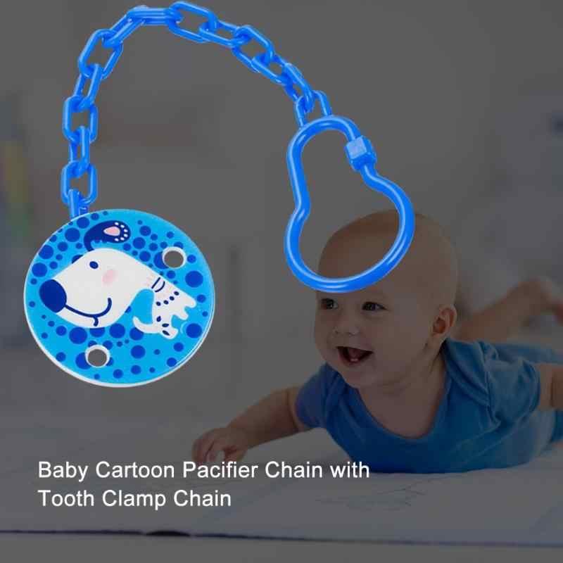 Chupete con forma de animales de dibujos animados clips de boquilla PP seguro Correa chupete Animal Clip soportes para cadena accesorios de alimentación de bebé recién nacido