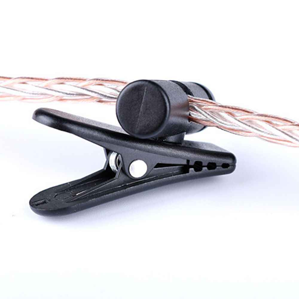 Cable Cord Clamp Collar Headset Clamp Collar Clip Rotating Clamps Headphone Cable Clips Earphone Winder Accessories