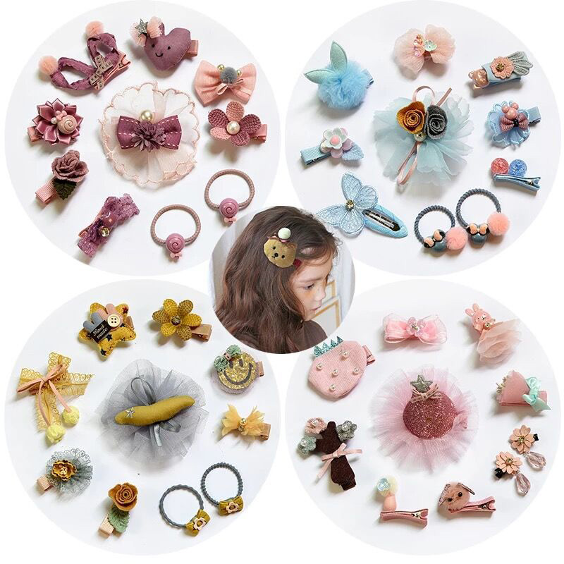 10 Pcs/set Beautiful Mixed Hair Accessories Girl Hair Rope Tie Hairclip Elastic Hairband Ponytail Holder Accessories Hy99 Clear-Cut Texture Personal Care Appliances