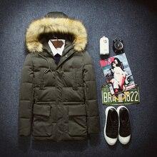 2016 новый зима Корейской Тонкий моды для Мужчин хлопка ватник пальто прилив молодежи A005