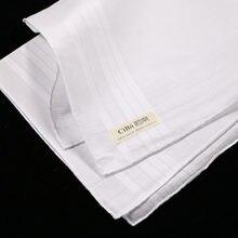 M001: 12 шт классический мужской платок из 100% хлопка и сатина