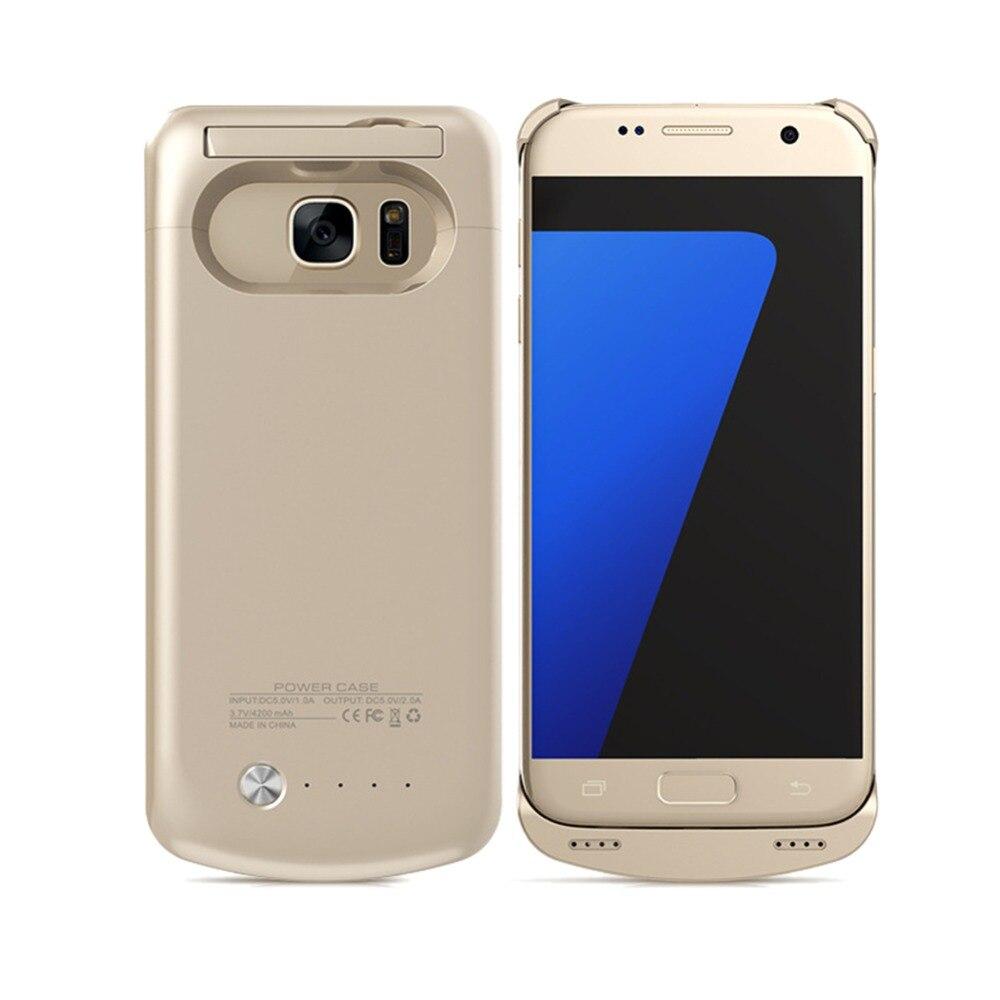 "Цена за 5.1 ""Банк силы случай Для Galaxy S7 Батареи 4200 мАч Зарядное Устройство Чехол с Kickstand для Samsung Galaxy S7 G930"