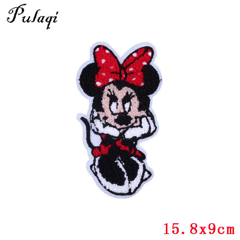 Mickey Mouse R Cartoon Silver Sequin Iron On Applique Patch