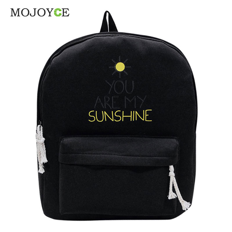 Hot Canvas Backpack Letter Printing Backpack Women Preppy Style School Bags for Teenagers Mochila Backpacks for Teenage girls