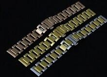 Новое Поступление Мягкой Прохладной Ремешок Для Часов Из Нержавеющей Стали Металлические Часы Мужчины Браслеты 18 ММ 20 ММ 22 ММ Серебро Черного Золота Rosegold Продвижение