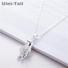 Uini-Tail Горячее предложение Новинка 925 Стерлинговое Серебро милый маленький пингвин микро-Вставка Ожерелье модное милое динамичное высококачественное ювелирное изделие GN865