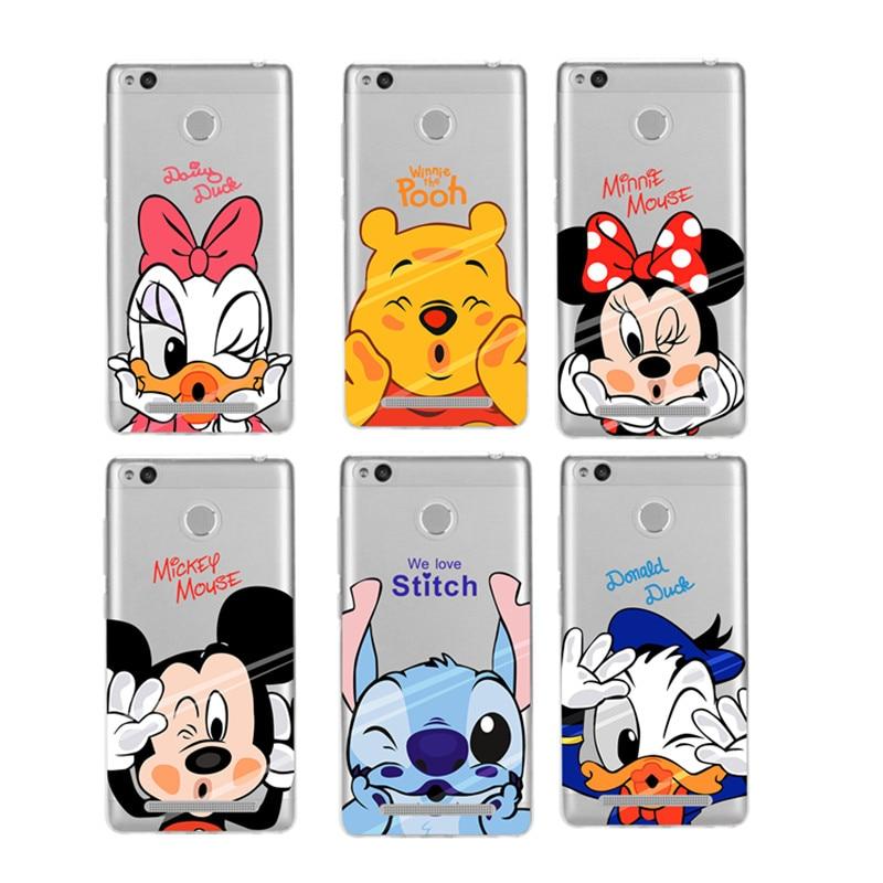 Coque Capa Para Cartoon Mickey Minnie Case For Xiaomi Redmi 4 4A 4X 3 3S Mi A1 Mi 5X Cases Note 3 5A 4 Pro 4x Fundas