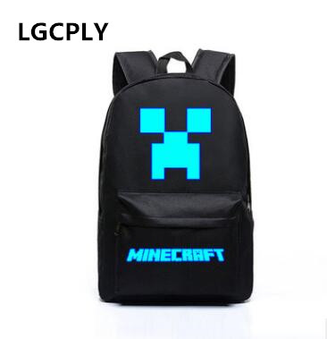 Hot Minecraft Backpacks Canvas Bts High Quality Backpack Children School Boys and Girls Back To School Glowing Bags