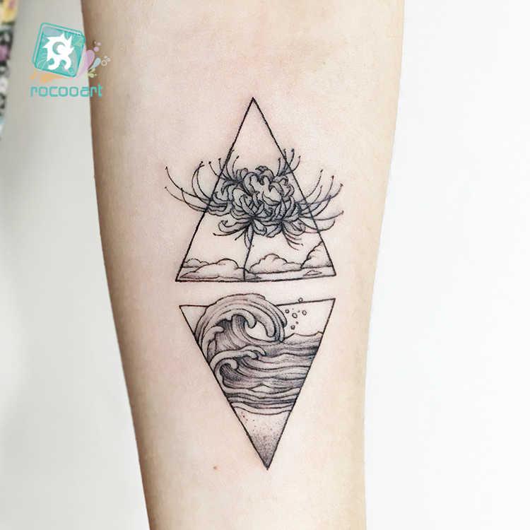 Rocooart, tatuaje falso de flor de serpiente, Tatuajes bonitos de conejo, Tatuajes para bailar King Taty, arte corporal a prueba de agua, Tatuajes adhesivos temporales