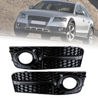 Liplasting 1 Pair Front Lower Fog Light Grilles S Line Style Grill Set Fit For Audi