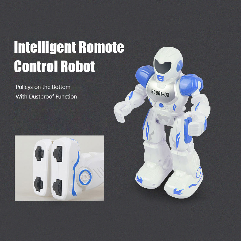 Fansaco Remote Control Robot USB Charging Dancing Gesture Control RC Robot Toy Blue Pink for Children Kids Birthday Gift Present