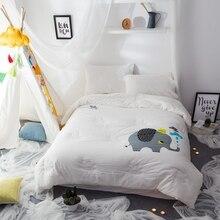 Дети слон постельные принадлежности одеяла одеяло краткое шаблон мультфильм стиль/1 шт. промывают хлопка стеганые одеяла постельное белье для зимы