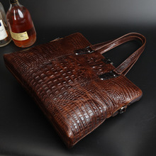 Top Quality Fashion 100 Crocodile Grain Genuine Real cowhide leather Briefcase Messenger Bag Tote Business Bags
