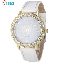 OTOKY Willby Women Watch Luxury Rhinestone Watch Female PU Leather Wrist Watches  161213 Drop Shipping