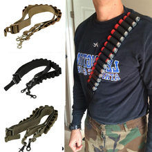 Tactical Shooting Adjustable Gun Sling System Strap Shotgun Carrying 15 Rd Gun Straps System Paintball Gun Sling Airsoft Hunting