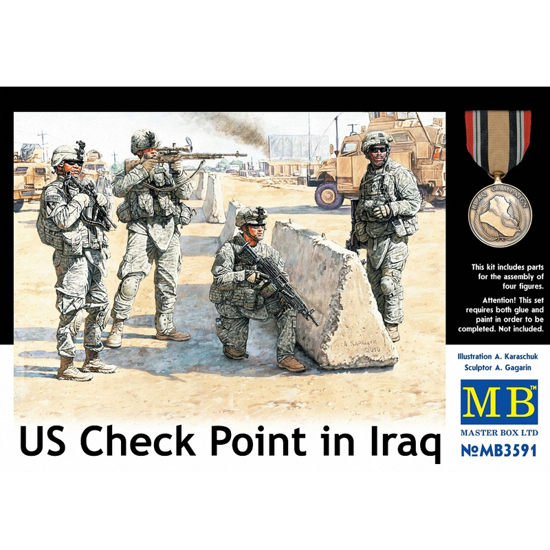 1/35 American Checkpoint Iraqi Soldier MB3591
