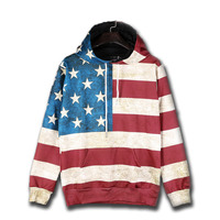Hip Hop Hoodies Printed American Flag Felpa Uomo 3d Loose Sweatshirt Hoodie Tracksuit Sudaderas Men Cotton