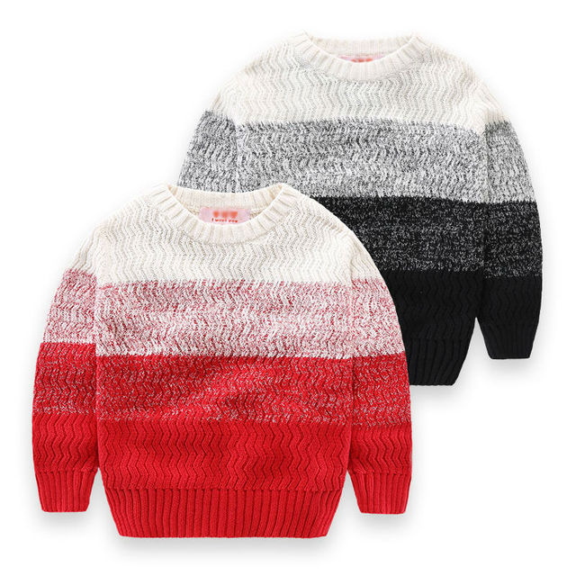 Baby Boys Christmas Sweater Winter Cotton Knitted Pullover Boys Cardigan Red Black gentleman sweater Top 2016 Child Outerwear