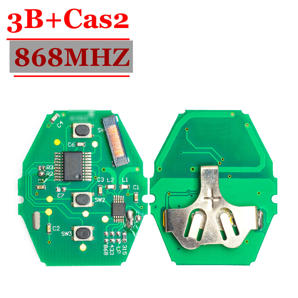 (1 pcs ) CAS2 Remote Key Borad 3 Button with 868MHz ID7944  cas2 system different from 433 and 315mhz