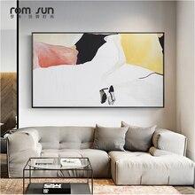 נעלי ריקוד בד ציור אמנות מופשטת בסגנון נורדי המודרני HD כרזות קישוט בית תמונה לסלון קיר והדפסים